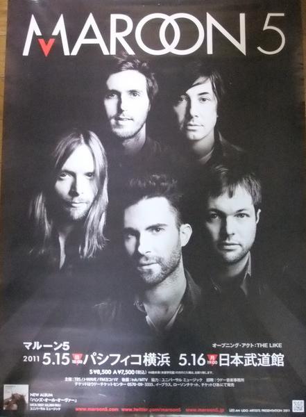 5327 MAROON 5 2011 来日公演ポスター