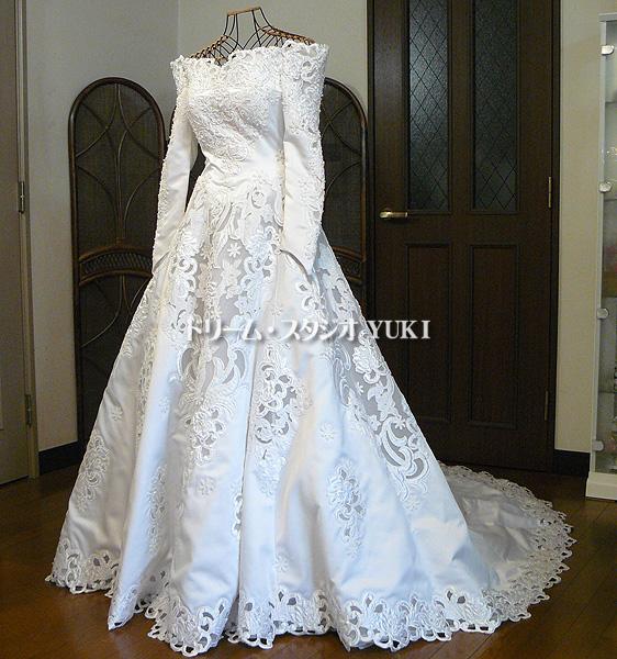 16389b49f85f2 □Lovely wedding□ウエディングドレス7号(jw304)中古 ウエディング 舞台
