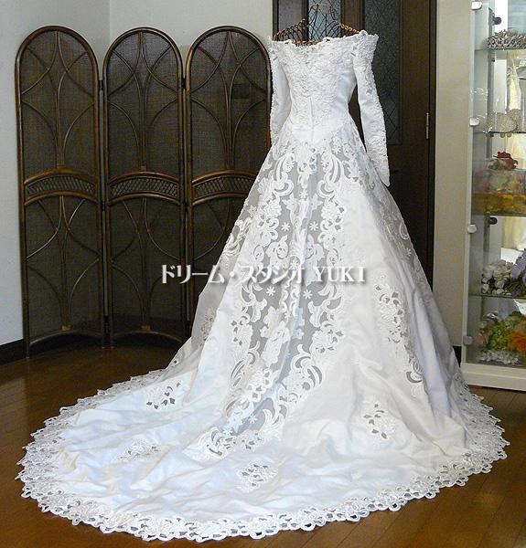 ■Lovely wedding■ウエディングドレス7号(jw304)中古_ウエディング/舞台/イベント衣装にどうぞ