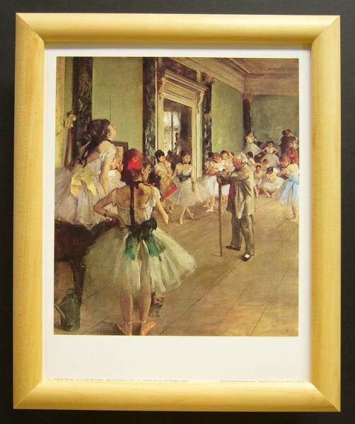 名画ポスター ドガ「ダンス教室」-新品-即決-_画像1