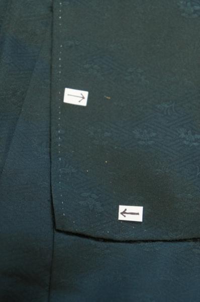 【特選】モスグリーン地流水御車裾模様訪問着[H5403]_特選モスグリーン地流水御車裾模様訪問着