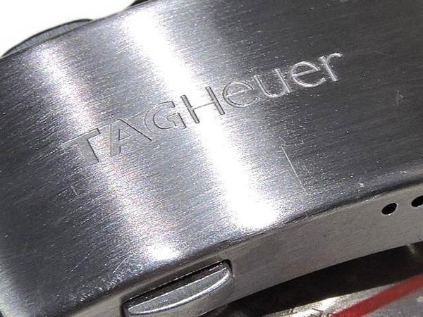 TAG Heuer タグホイヤー☆CAF2011 ニューアクアレーサー クロノ デイデイト メンズ ステンレス SS シルバー オートマ 自動巻き 時計_画像6