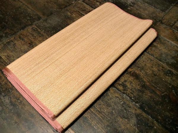 お洒落な竹バンブーラグマット丸竹● 261×352 約 6畳 節電 竹ラグ 竹マット 竹 竹 ラグマット 夏 絨毯 カーペット_画像3