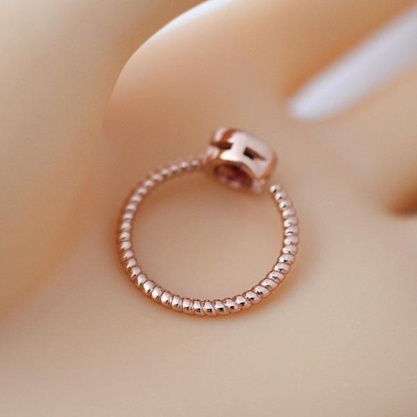 フリーサイズ  7月誕生石 ルビ風  ステンレス 指輪 リング_画像5