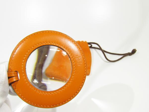 エルメス HERMES アクセサリー ルーペ レザー ペンダント 保存袋有 虫眼鏡 拡大鏡 ネックレス_画像4