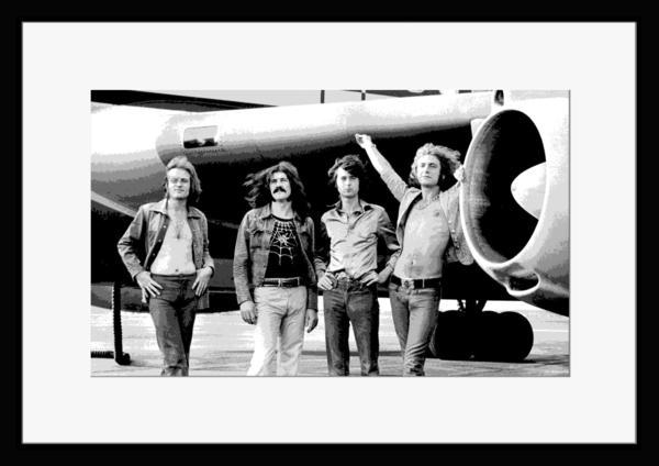 BW:UK人気ロックバンド/レッド・ツェッペリン/.Led Zeppelin/モノクロ写真フレーム-2