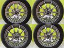 軽自動車 アルト 4本 7分山 ヨコハマ エコス ES31 + 新品 シュナイダー STAG 155/65R14 ミラ タント ウェイク キャスト スペーシア 社外 夏