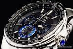 1円セイコー海外「誤差10万年に1秒 超高精度」電波ソーラー「上級コーチュラ」クロノグラフ腕時計
