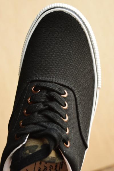 正規 AVIREX U.S.A. ASTRO スニーカー デッキシューズ スリッポン メンズ 靴 新品 AV3623 ブラック/カモ 26.5cm_画像3