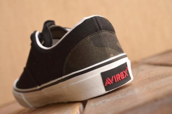 正規 AVIREX U.S.A. ASTRO スニーカー デッキシューズ スリッポン メンズ 靴 新品 AV3623 ブラック/カモ 26.5cm_画像7