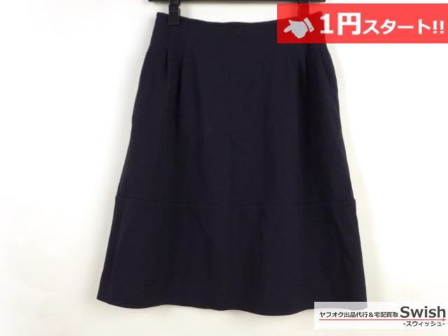 A821●Rene basic ルネ●未使用 スカート 34 紺●