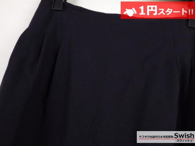 A821●Rene basic ルネ●未使用 スカート 34 紺●_画像2
