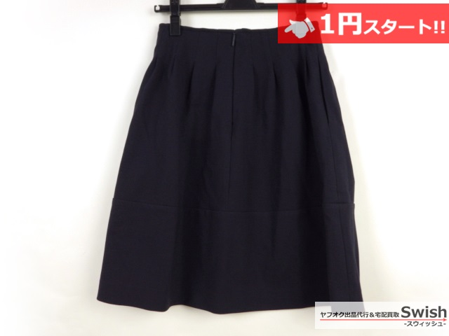 A821●Rene basic ルネ●未使用 スカート 34 紺●_画像3