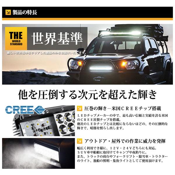 LED ワークライト 作業灯 CREE 216W 15120Lm 12V/24V対応送料無料_画像3