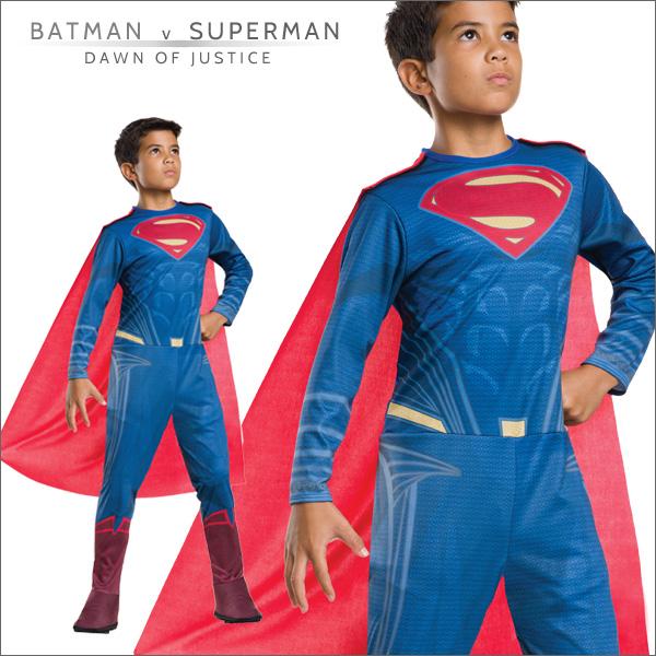 送料無料★バットマンvsスーパーマン 子ども用スーパーマン 620566L■ハロウィン衣装 コスプレ コスチューム 仮装 映画キャラクター グッズの画像