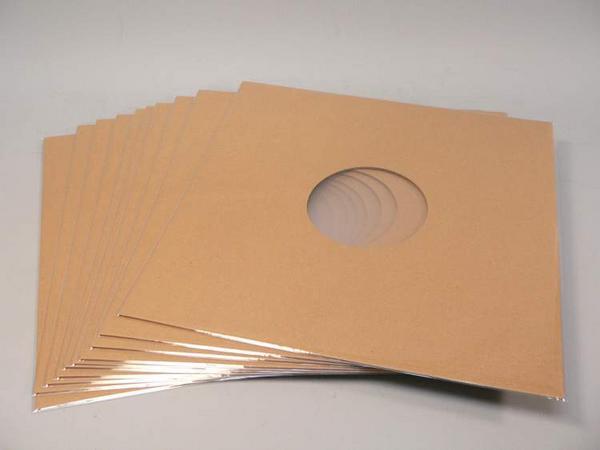 (サプライ) 12インチ クラフト色紙ジャケット(穴有り)10枚セット_画像1
