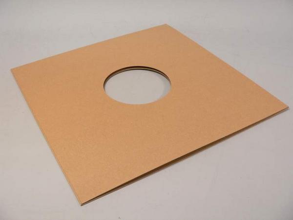 (サプライ) 12インチ クラフト色紙ジャケット(穴有り)10枚セット_画像3