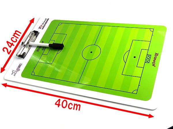 ●サッカーコーチボード作戦盤タクティクス!フルハーフ両面対応 クラブチームの戦略に フルフィールドハーフフィールド両方対応_何度でも書いたり消したり可能です