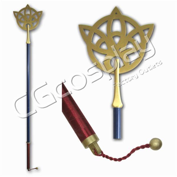 コスプレ道具 ファイナルファンタジー ユウナ Yuna 杖 グッズの画像