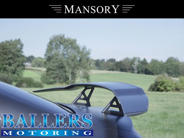 MANSORY BENZ W217 Sクーペ リアウイング Type2 Visible Carbon 3pcs ( リア 外装 エアロ )_画像2