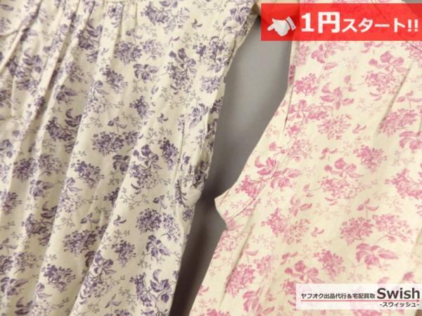 A373●Cloth&Cross/Hug O War ハグオーワー●花柄 ワンピース 2点セット●_画像6