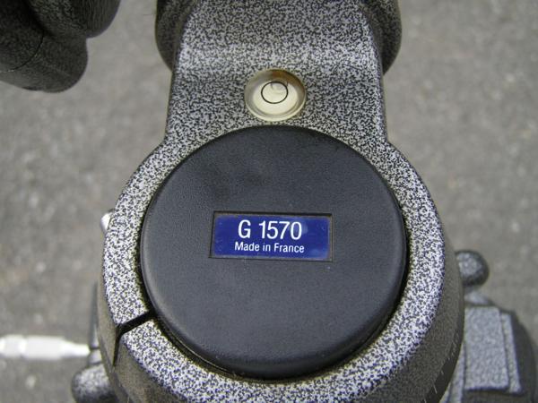 ★ハロ-カメラ★5696 GITZO 大型3段三脚 G412(縮 90/伸 205cm)・GITZO 大型雲台 G1570 太ネジ仕様 良品_画像5