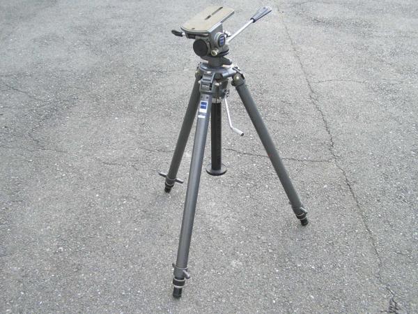 ★ハロ-カメラ★5696 GITZO 大型3段三脚 G412(縮 90/伸 205cm)・GITZO 大型雲台 G1570 太ネジ仕様 良品