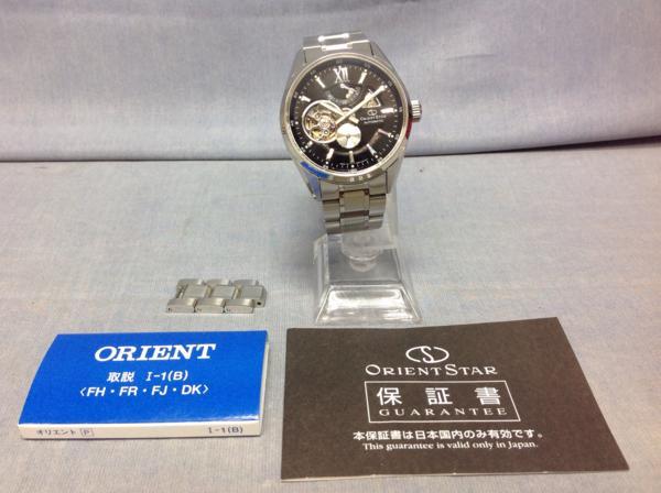 !【01】ORIENT STAR DK05-C0-B 裏スケルトン 10気圧 自動巻き 保証書等あり 極美品
