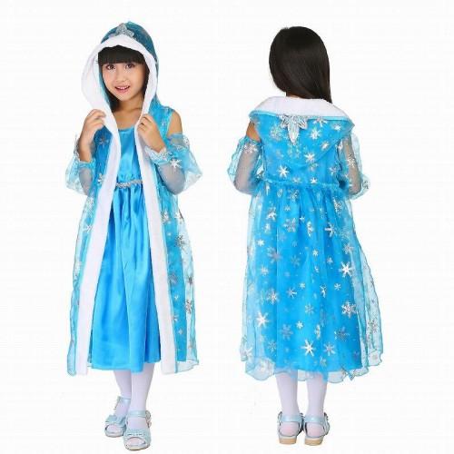 子供 2set キッズ アナと雪の女王 ブルー 120-130【 同梱可能 | 即納】 ディズニーグッズの画像