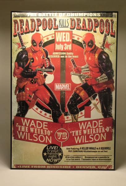 デッドプール 大判ポスター アルミ製ポスターフレーム付 アメコミ キャプテンアメリカ バットマン アイアンマン スパイダーマン 映画グッズの画像