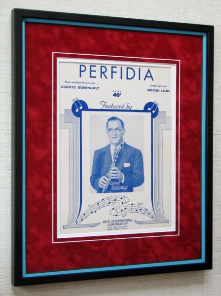 ベニー・グッドマン/1941オリジ楽譜額装/Perfidia/Benny Goodman