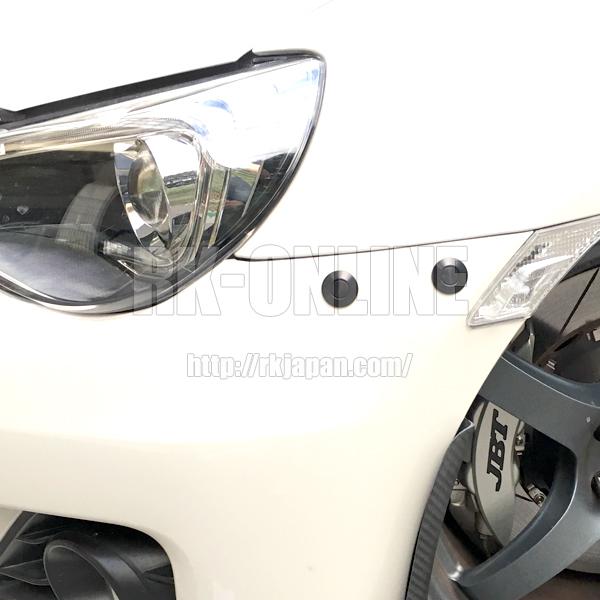 BMW・M2・M3・M4・M5・M6・アルピナ・サーキット走行に最適なクイックロック:4個セット:25mmタイプ:ブラックアルマイト_BRZへの取付け例です。