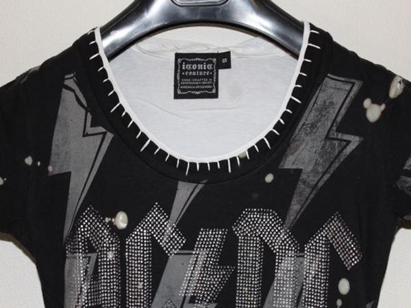 サディスティックアクション SADISTIC ACTION ICONIC レディース半袖Tシャツ AC/DC Sサイズ アイコニック 新品_画像2
