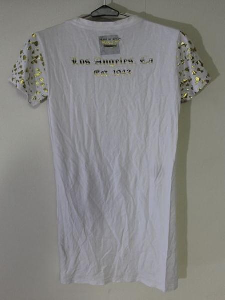 スメット SMET レディース半袖チュニックTシャツ ホワイト Sサイズ 新品 白_画像5