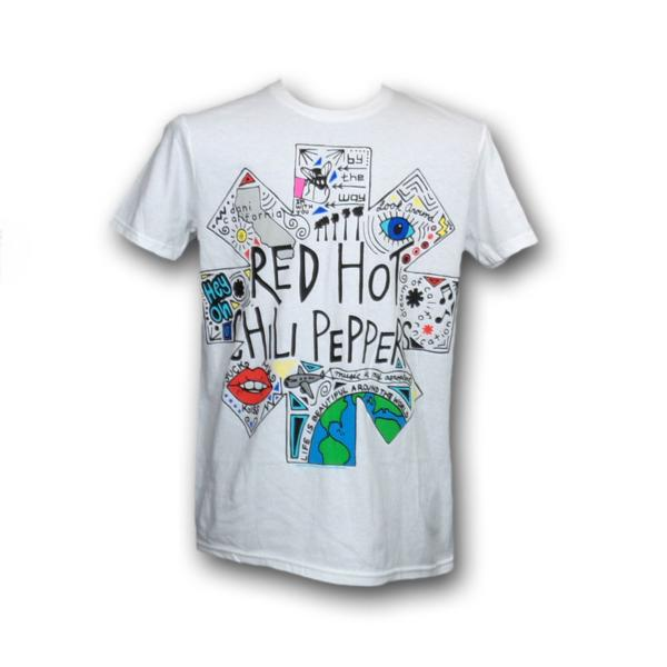 Red Hot Chili Peppers バンドTシャツ Doodle S