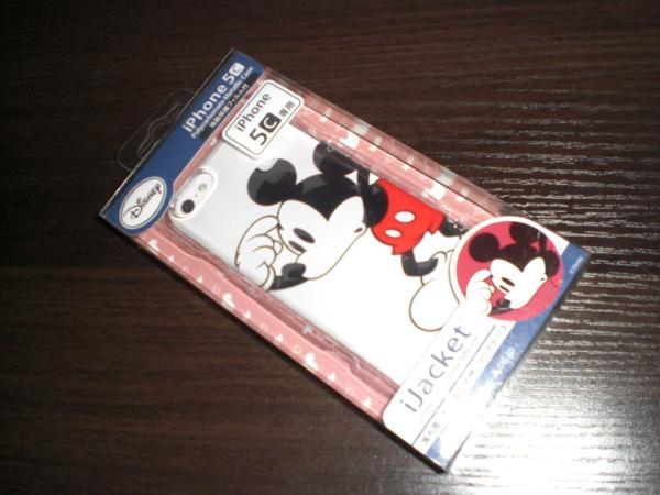 新品iPhone5☆ミッキーマウスクリアケース☆液晶保護フィルム付
