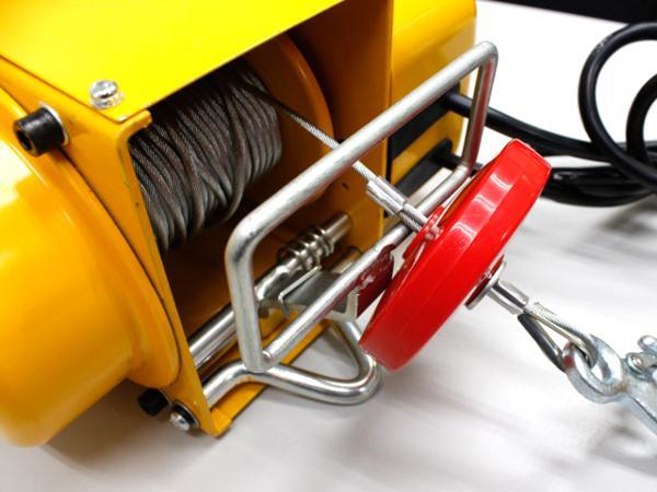電動ウインチ 強力小型ホイスト 家庭用100V対応 60Hz 最大能力250kg 出張先や現場ですぐに使える移動式 吊り下げタイプ 【60日安心保証付】_電動ウインチ 強力小型ホイスト 100V 60Hz