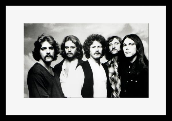 BW:人気ロックバンド!イーグルス/Eagles/モノクロ写真フレーム-1