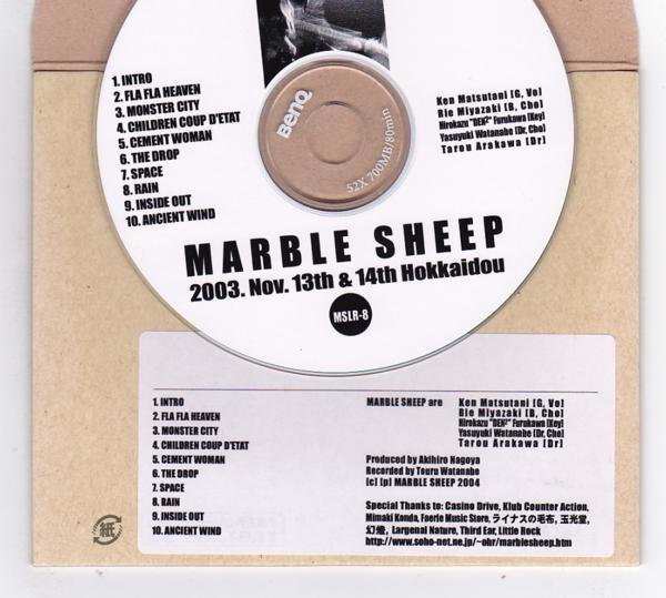 CD-R/MARBLE SHEEP / 2003.Nov.13th & 14th Hokkaido_画像2