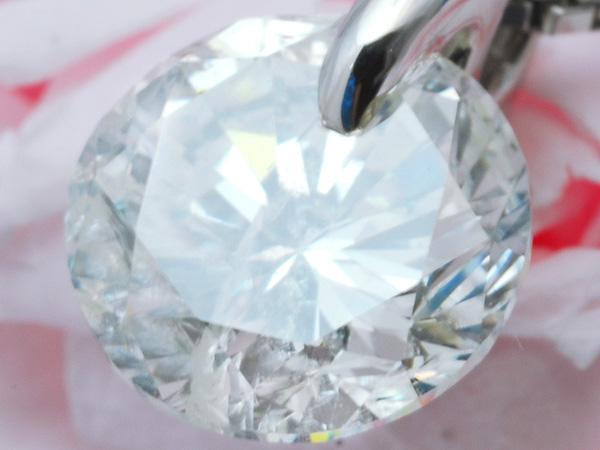 【1円スタート】 定価480万 超大粒 天然ダイヤモンドネックレス 1.644ct H/SI2/GOOD Pt