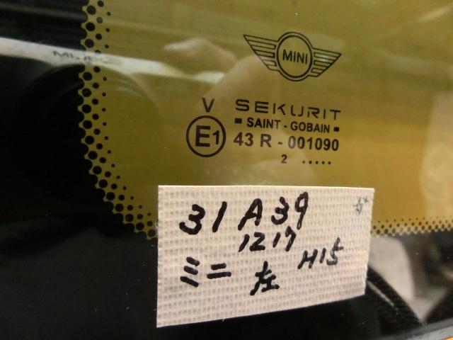 ミニクーパーS 左 クォーターガラス GH-RE16 平成15年    R50/R53 RA16 BMW ミニ MINI       ♭nn_画像3