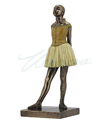 ドガ 作リトル・ダンサー バレリーナ像(高さ 約18cm)彫刻 彫像/ Degas Lttle Dancer Ballerina Statue (輸入品_画像1