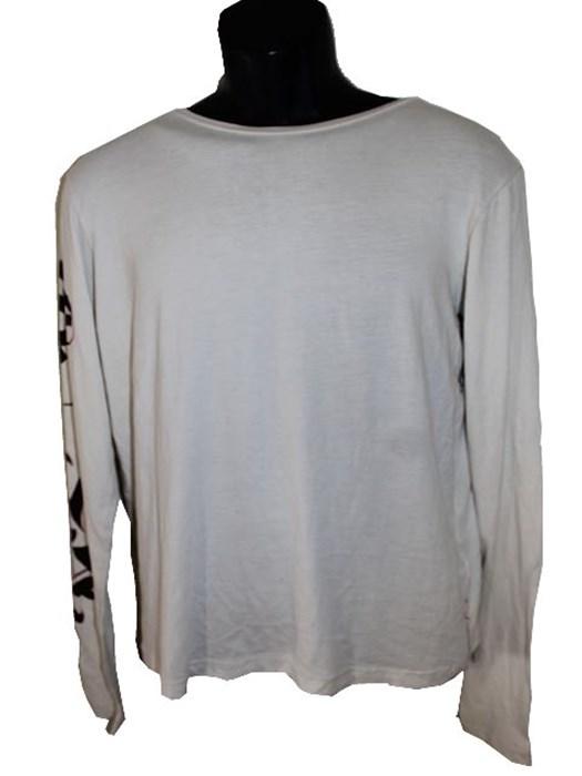 エドハーディー ED HARDY メンズ長袖Tシャツ アイボリー Sサイズ 新品_画像1