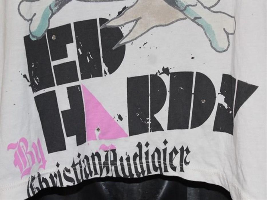 エドハーディー ED HARDY メンズ長袖Tシャツ アイボリー Sサイズ 新品_画像4