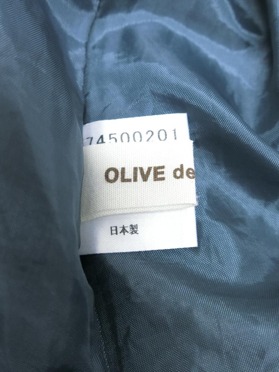 OLIVE des OLIVE シフォン シースルー 刺繍 ドット リボン ギャザー ワンピース グリーン 緑 日本製 レディース WC1806-754_画像5