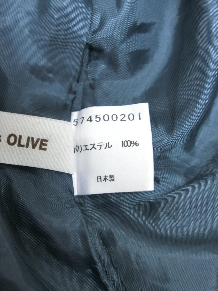 OLIVE des OLIVE シフォン シースルー 刺繍 ドット リボン ギャザー ワンピース グリーン 緑 日本製 レディース WC1806-754_画像7