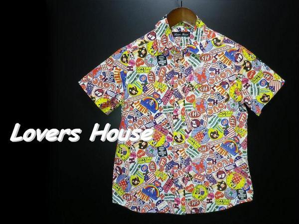 【美品】SUPER LOVERSスーパーラヴァーズ アメコミ半袖シャツ M_画像1