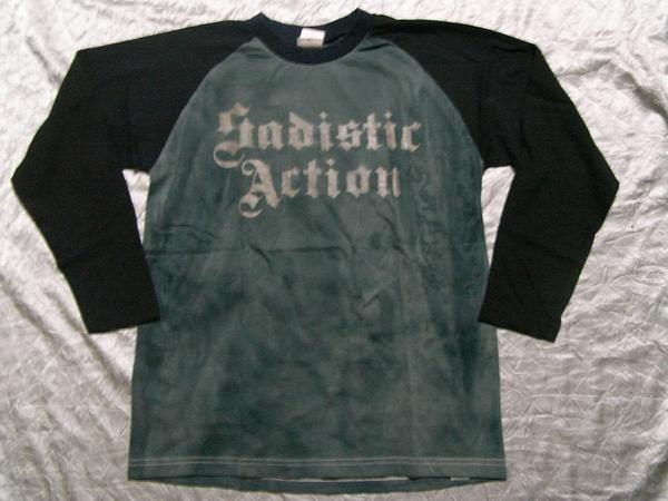 サディスティックアクション SADISTIC ACTION メンズ長袖Tシャツ Mサイズ NO11 新品_画像1