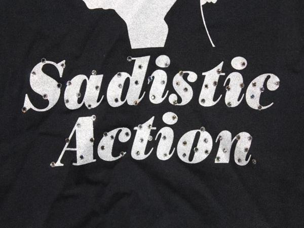 サディスティックアクション SADISTIC ACTION レディースタンクトップ ブラックxホワイト 新品_画像4