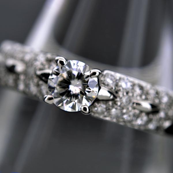 【BSJJ】Pt900 プラチナ ダイヤモンド 0.308ct F/SI-1/GD/中央宝石研究所 リング 約12号 本物_画像2